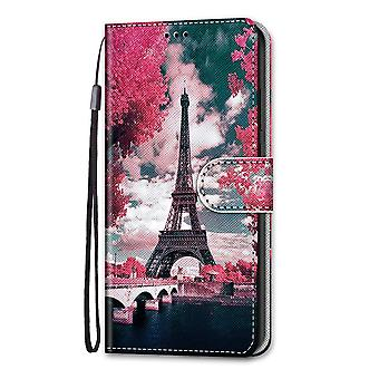 Case For Xiaomi Redmi Note 10 Pro Painted Flip Cover Magnetic Closure Eiffel