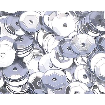 6mm Silver Round Cupped Sequins - 4000pk