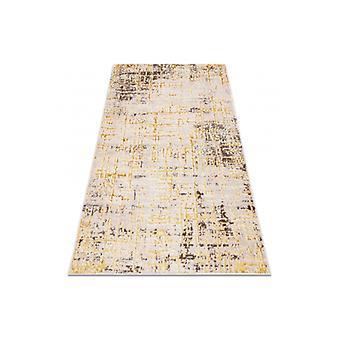 Moderno tapete MEFE 8722 Linhas vintage - estrutural dois níveis de lã bege / ouro