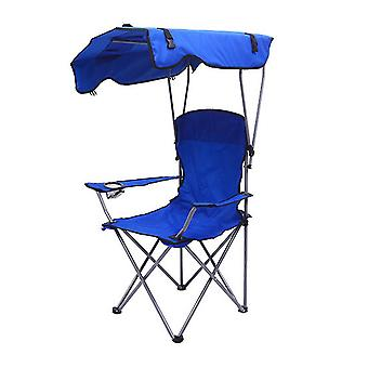 Outdoor Shade Canopy Folding Shade Chair for Adults or Kids(54x54x90cm)(Blue)