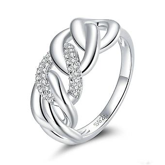 Silver plating Chain Ring Finger Rings for Women Engagement Wedding Jewelry_8
