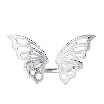 Silver plating Simple Ethnic Style Drawing Ring Women's  Hollow Butterfly Ring Fashion