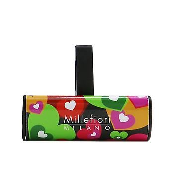 Millefiori Icon Cuori & Fiori Car Air Freshener - Mediterranean Bergamot 1pc