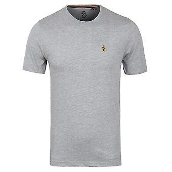 Luke 1977 Trousersnake Crew Neck T-Shirt - Mid Marl Grey