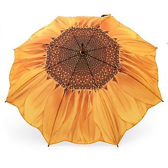 Paraply stick paraply motiv solrosor