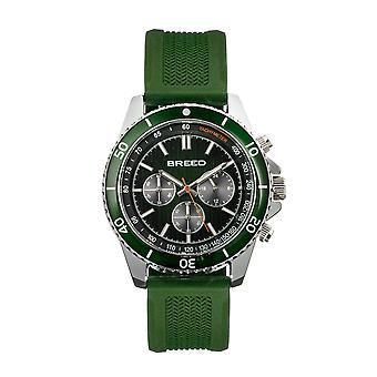 Breed Tempo Chronograph Strap Watch - Green