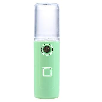 Humidifiers usb rechargeable nano water replenishment instrument  negative ion aromatherapy humidifier green
