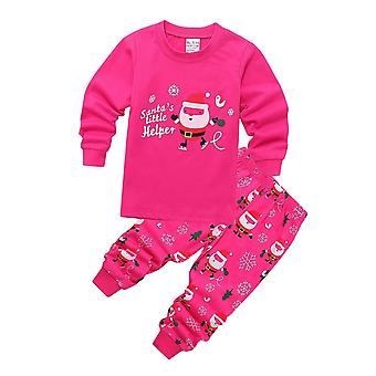 Kids Girl Boy Vianočné tlačené Pyžamové sety Xmas Sleepwear Nočné oblečenie Pjs