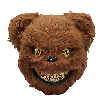 Хэллоуин Страшная медвежья маска, кровавая маска Тедди
