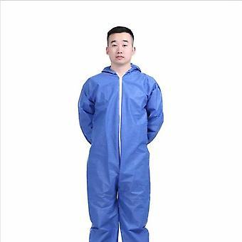 10 stykker ikke-vævet engangsbeskyttende tøj i ét stykke med hætte til gårde (størrelse Xl)