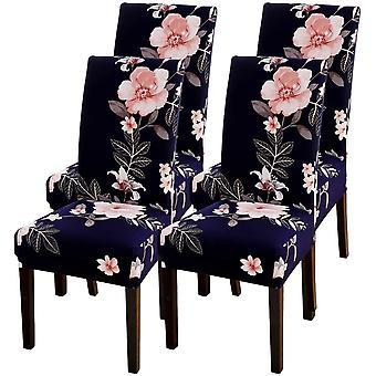 Housse de chaise d'intérieur, universelle en toutes saisons, facile à laver en une seule pièce (4 pièces)