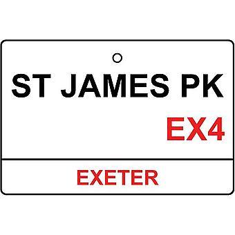 Exeter / St James Park Street sinal carro ambientador