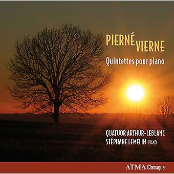 Pierne / Vierne / Lemelin - Qnts Pour Piano [CD] USA import