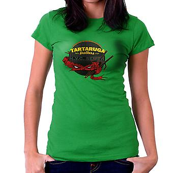 Tartaruga Brothers Teenage Mutant Ninja Turtles Raphael Women's T-Shirt