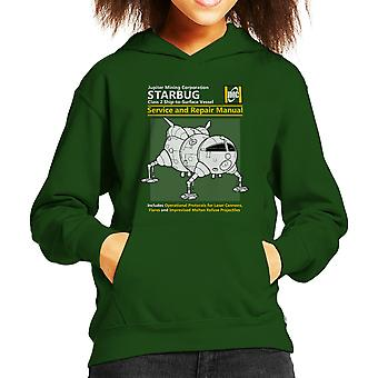Red Dwarf Starbug Service And Repair Manual Kid's Hooded Sweatshirt