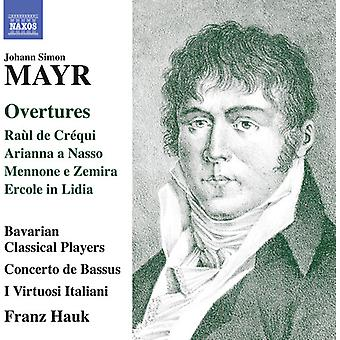 Mayr / bayerska Classical Players - Johann Simon Mayr: ouvertyrer [CD] USA import