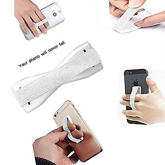 (Hvid) Anti-Slip Elastisk Finger Mobiltelefon Greb Holder For Sharp Aquos S3 High Edition