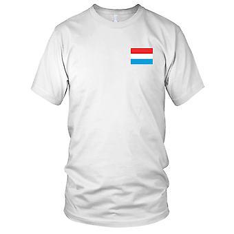 Drapeau National du pays de Luxembourg - brodé Logo - T-Shirt 100 % coton T-Shirt Mens