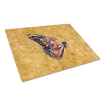 Carolines Treasures  8858LCB Butterfly on Gold Glass Cutting Board Large