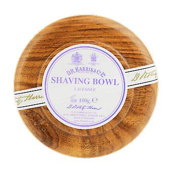 D R Harris Lavender Shaving Soap & Bowl Mahogany 100g