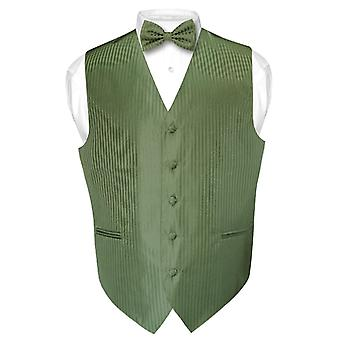 Men's Dress Vest & BOWTie Vertical Striped Design Set