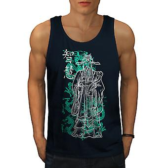 Cool Japan King menn NavyTank toppen | Wellcoda