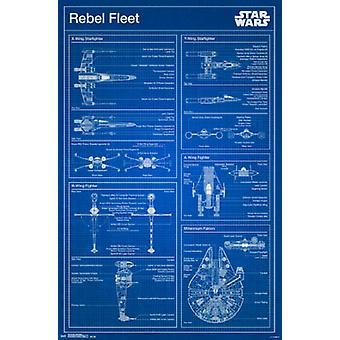 Star Wars - Rebellen Blueprint Poster drucken