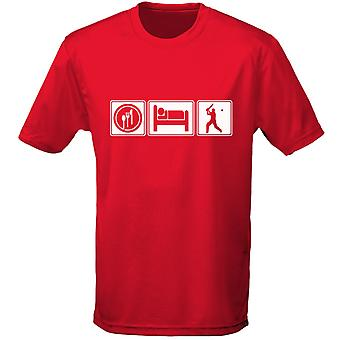 Äta sova Cricket Mens T-Shirt 10 färger (S-3XL) genom swagwear