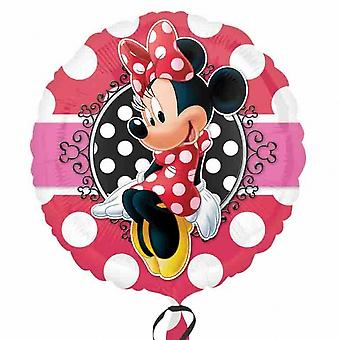 Anagram Disney Minnie Mouse Potrait 18 Inch Circular Foil Balloon
