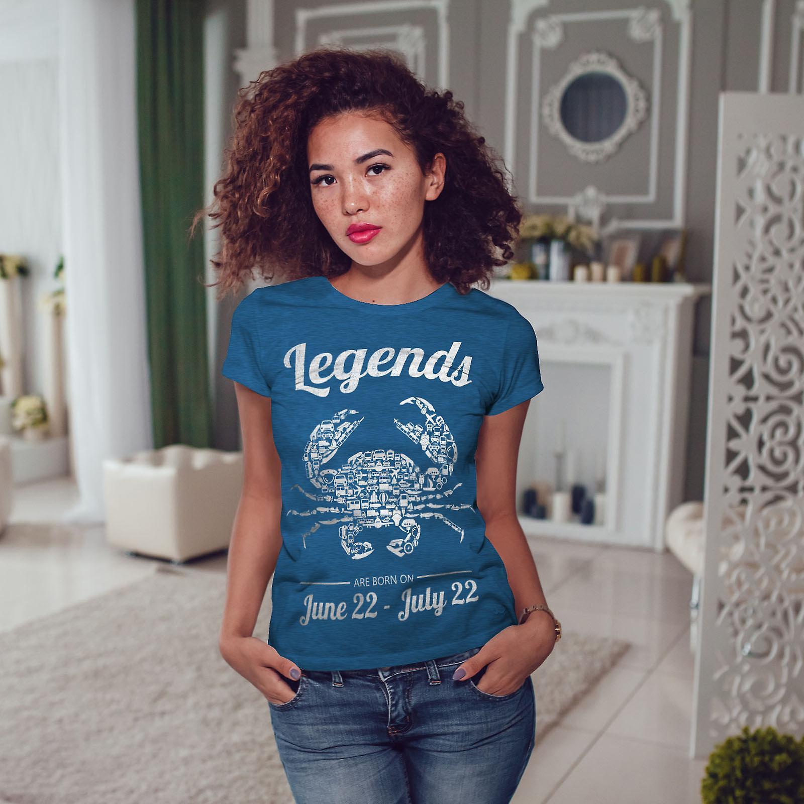 Meilleur juin juillet anniversaire Royal BlueT-chemise femme | Wellcoda Ay1ANf