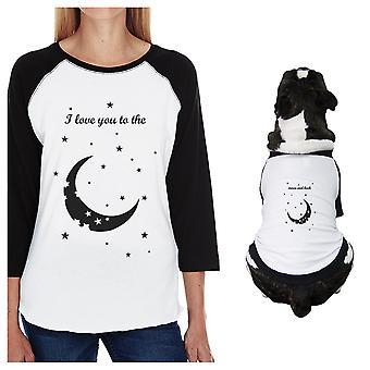Moon And Back kleine hond en moeder bijpassende Outfits Raglan Tees katoen