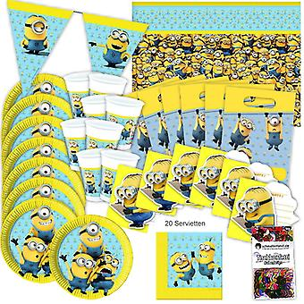 Asseclas festa caixa 51-teilig aniversário decoração Assecla festa pacote original