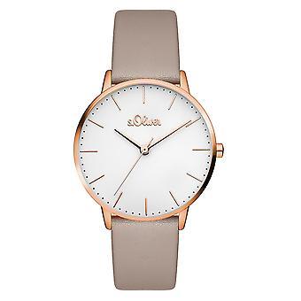 s.Oliver kvinnors watch armbandsur läder SO-3441-LQ