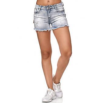 Ladie ' s džínsy šortky príťažlivé nohavice roztrhané Bermudy nohavice zničené trhliny diery použité