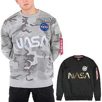 Alpha Industries Herren Sweatshirt NASA Reflective
