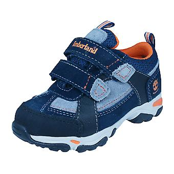 Timberland Trail Force EK WP Hook and Loop Boys / Toddlers Boots - Navy
