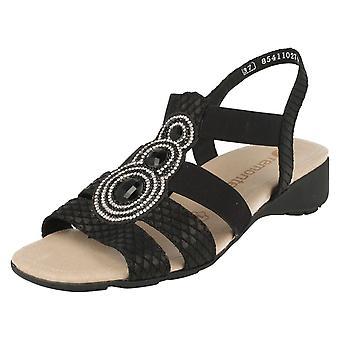 Dames Remonte gelegenheid dragen Sparkle sandalen R5248