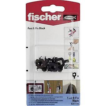 Fischer wall hook fast & Fix Black K 8 pcs.