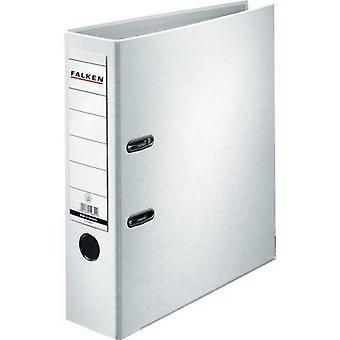 Falken Folder FALKEN PP-Color A4 Spine width: 80 mm White 2 brackets 9984030