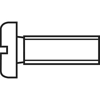 TOOLCRAFT 828789 Allen skruer M1.6 10 mm spor DIN 84 ISO 1207 stål 20 eller flere PCer