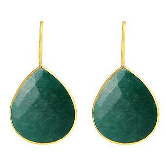 Gemshine kvinnors Örhängen 925 silverpläterad smaragdgrön godis droppar