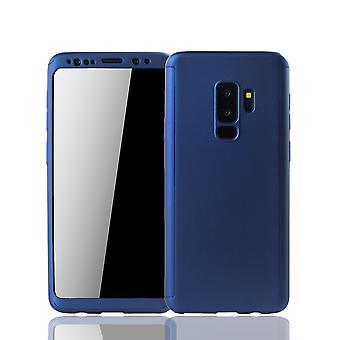 Samsung Galaxy S9 plus mobile shell Schutzcase piena copertura 360 display pellicola protettiva blu