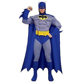 באטמן Deluxe שריר כחול האמיץ והנועז גיבור Mens תלבושות