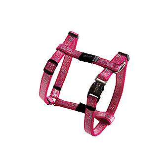 Rogz Lapz Trendy Bone Design Durable Dog H-Harness Pink, X-Small