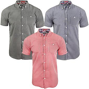 Brave Soul Herren Clement Kurzarm Check überprüft zugeknöpft Shirt Top