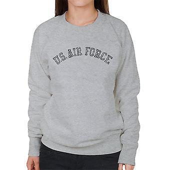 US Airforce utbildning svart Text nödställda kvinnors tröja