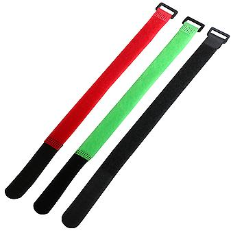TRIXES 9 x Coloured Adjustable Hook and Loop 11/'28cm Cable Ties Straps
