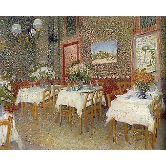レストランのインテリユール、ヴィンセント・ヴァン・ゴッホ、60x50cm