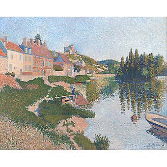 Riverbank, Petit-Andely, Paul Signac, 65x81cm