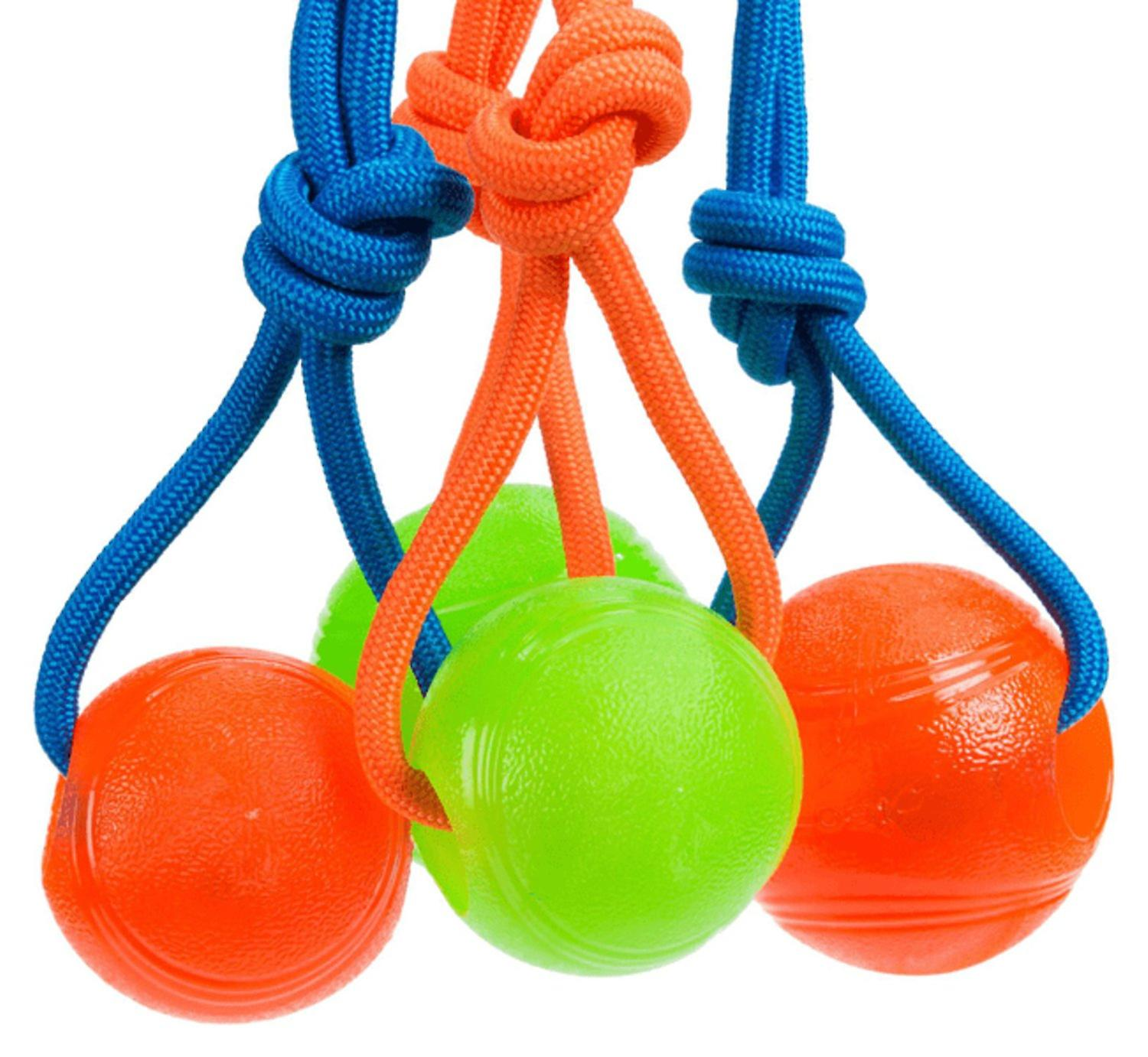 Ball with rope, TPR 8 cm